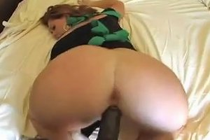 Nice Ass Redhead Has Her Pussy Stretched With A Big Black Cock In A Steamy Interracial Shoot